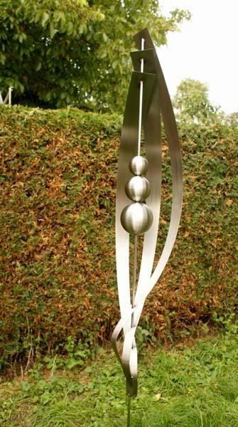 gartendeko aus edelstahl für innenräume und aussenbereich, Garten ideen gestaltung
