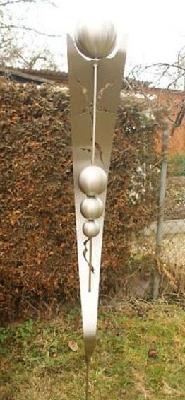 gartendekoration edelstahl, gartendeko shop edelstahl gartenstecker 4 edelstahlkugeln, Design ideen