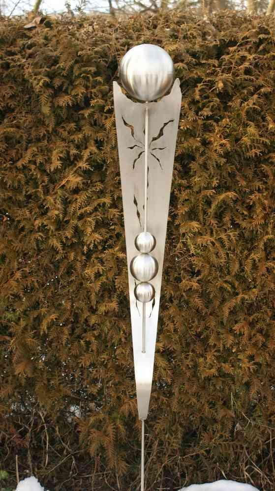 gartendeko shop edelstahl skulptur anna 100 % edelstahl, Best garten ideen