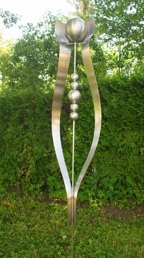 gartendeko shop edelstahl skulptur julia 100 % edelstahl, Garten ideen gestaltung