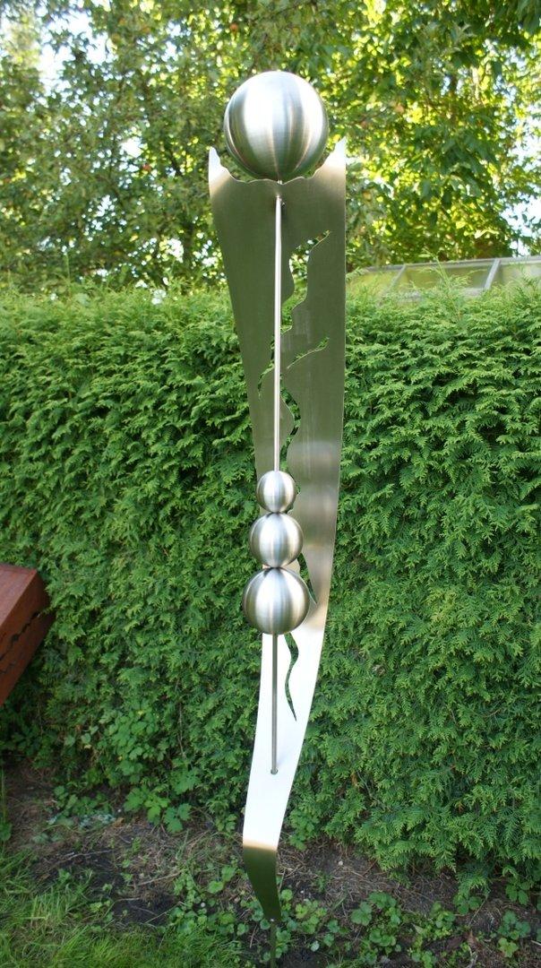 gartendeko edelstahl saule, gartendeko shop edelstahl skulptur isabel 100 % edelstahl, Design ideen
