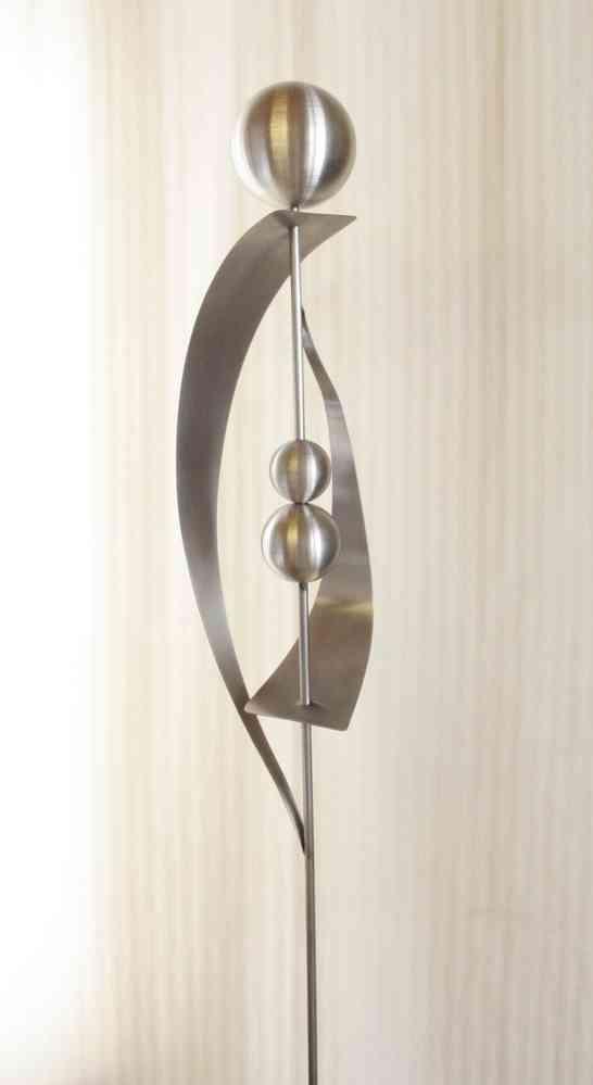 gartendeko shop gartenstecker skulptur luna 100 % edelstahl, Best garten ideen