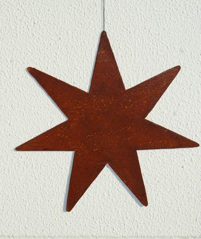 Gartendeko Shop - Rost Eisen Stern zum Aufhängen Deko Windspiel