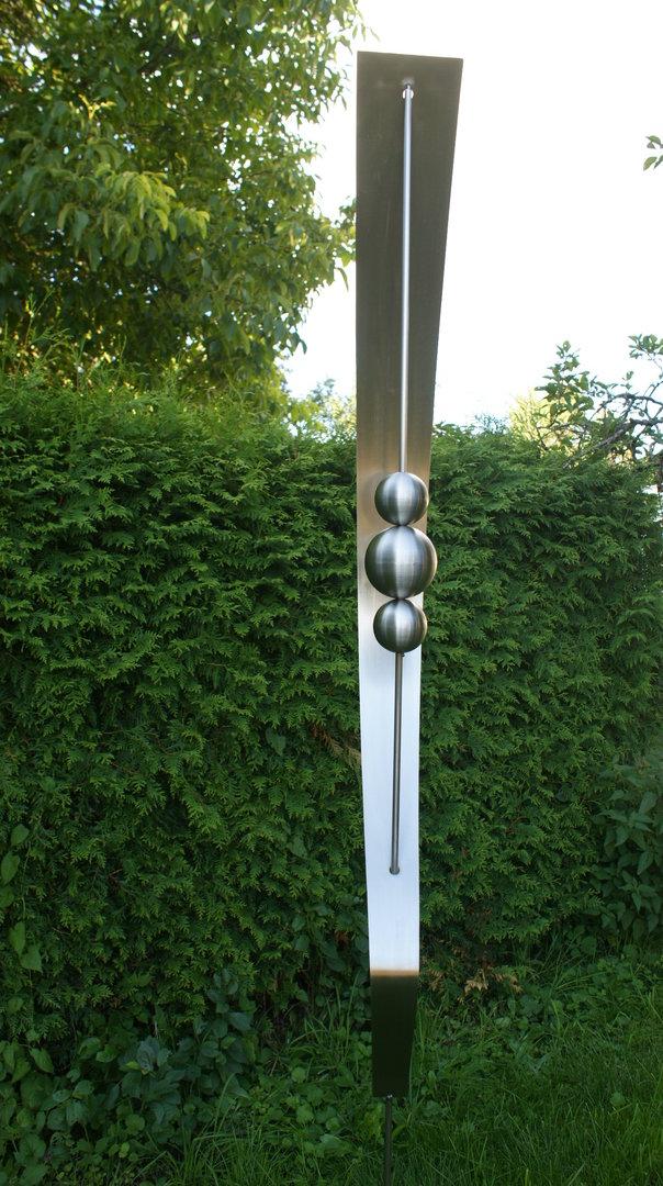Gartendeko shop edelstahl skulptur talia 100 edelstahl for Gartendeko edelstahl gartenstecker