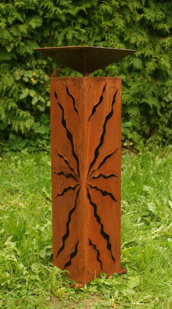 gartendeko shop - rostsäule säule 60cm hoch mit rissen, Garten ideen