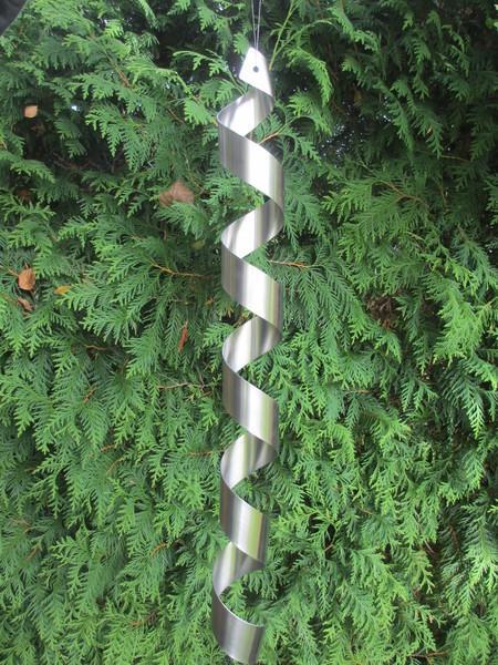 gartendeko shop - edelstahl spirale windspiel feng shui,