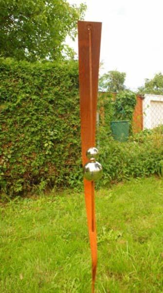 Gartendeko shop rost stecker 150cm mit 2 kugeln for Gartendeko stecker