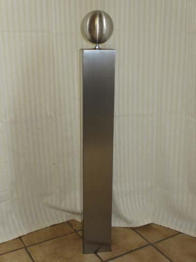 Gartendeko edelstahl saule  Gartendeko Shop - Säule aus Edelstahl 70cm mit Edelstahlkugel