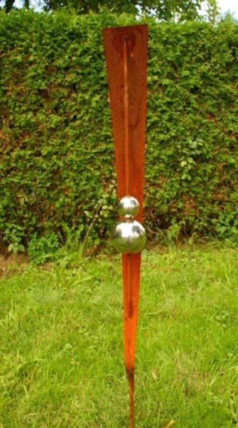 Gartendeko shop rost stecker 120 cm mit 2 kugeln for Gartendeko stecker