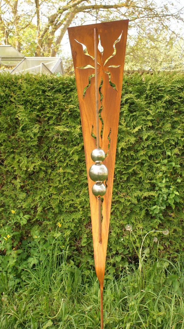 Gartendeko shop design skulptur rost dekostab 2 m for Dekostab garten