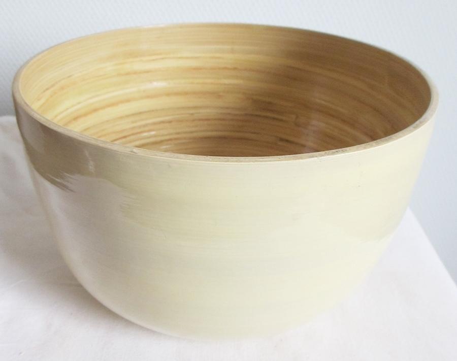 Gartendeko Shop - Bambus Schüssel Schale Bambusschale Deko