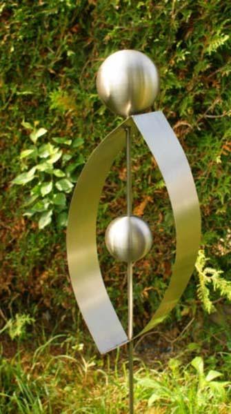Gartendeko edelstahl gartenstecker  Gartendeko Shop - Edelstahl Gartenstecker Ellipse