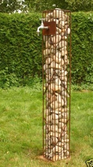 Gartendeko shop gabione gabionens ule rost 125 cm for Rost gitter garten