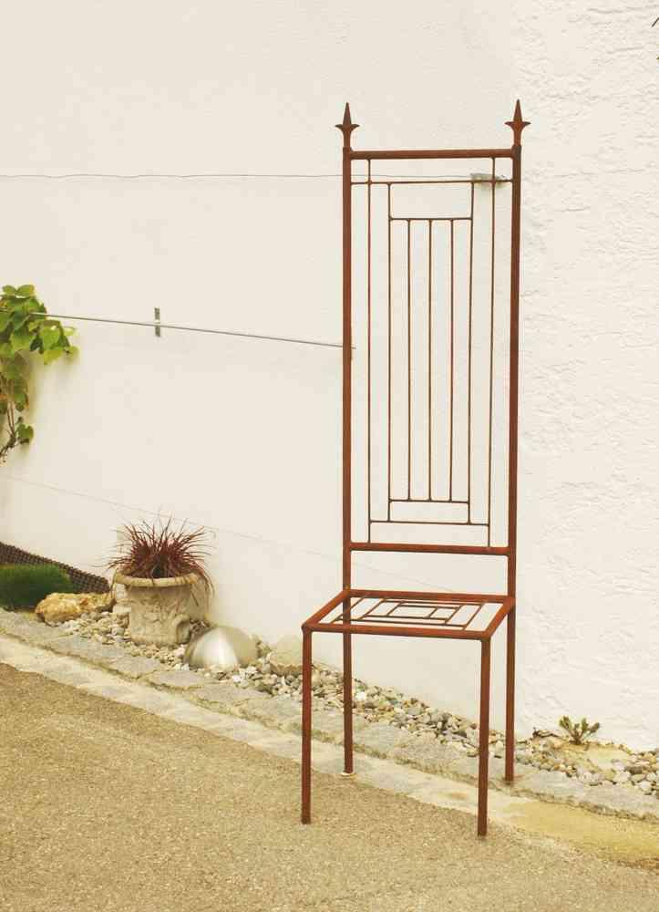 Gartendeko Shop - Deko Eisenstuhl Rost Motiv Modern Rankhilfe