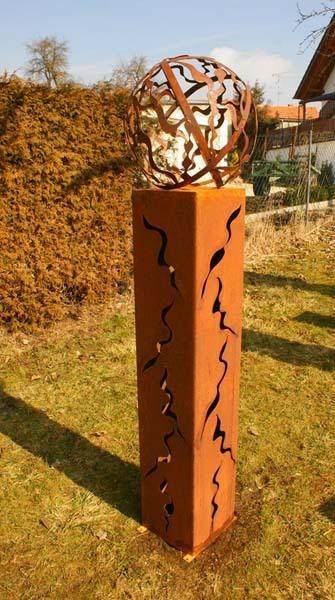 Gartendeko shop fackel 125 cm mit kugel - Gartendekoration modern ...