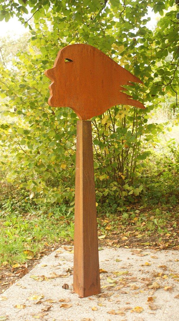 Gartendeko Shop - Rost Skulptur Windsbraut