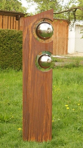 Gartendeko shop skulptur marlies for Gartendeko aus holzstammen