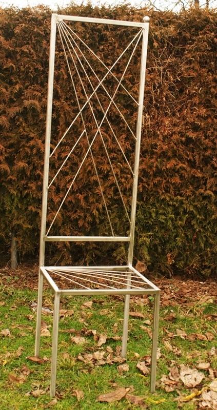 gartendeko shop gartendeko edelstahl stuhl einzelst ck. Black Bedroom Furniture Sets. Home Design Ideas