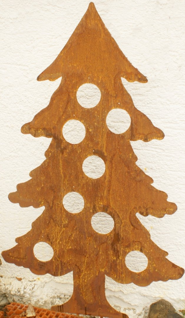 gartendeko shop rost weihnachtsbaum tanne 120 cm. Black Bedroom Furniture Sets. Home Design Ideas
